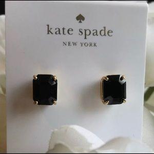 Kate spade black stud earrings